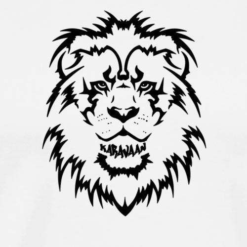 Karavaan Lion Black - Mannen Premium T-shirt
