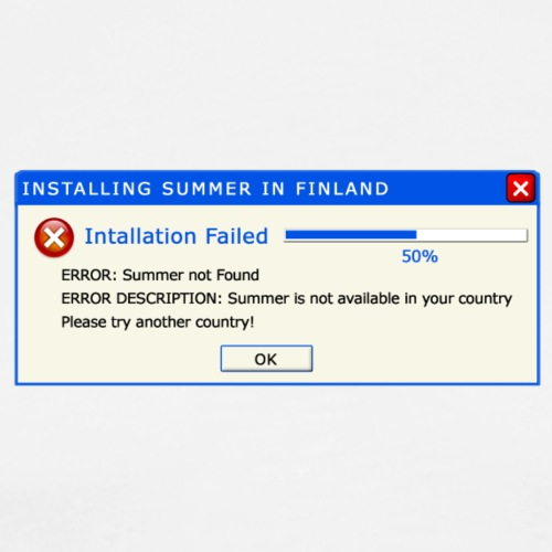 Summer Error Message - Miesten premium t-paita