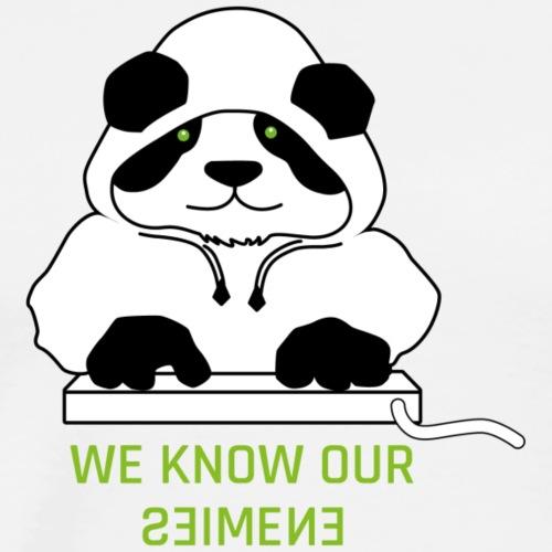 Panda White Hoody - Männer Premium T-Shirt