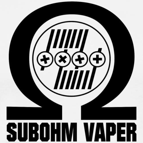 Subohm Vaper (schwarz) - Männer Premium T-Shirt