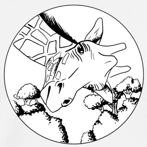 tête de girafe - T-shirt Premium Homme
