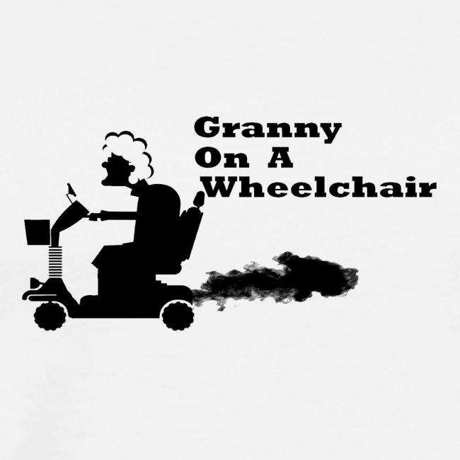 granny on a wheelchair