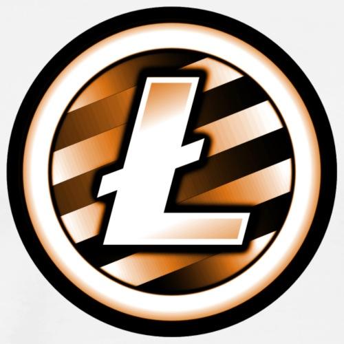 Litecoin Orange - Männer Premium T-Shirt