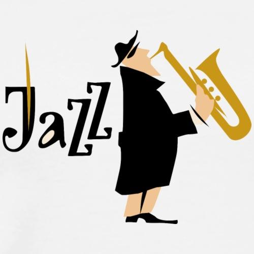 Jazzsaxofon - Männer Premium T-Shirt