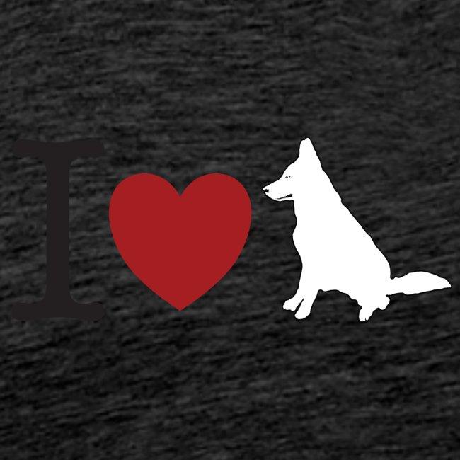 I LOVE White Dog