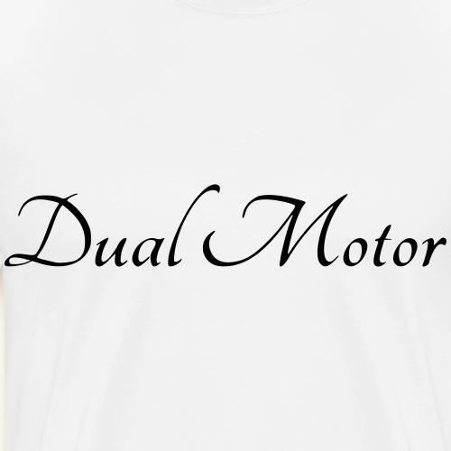 Dualmotor Schriftzug - Männer Premium T-Shirt