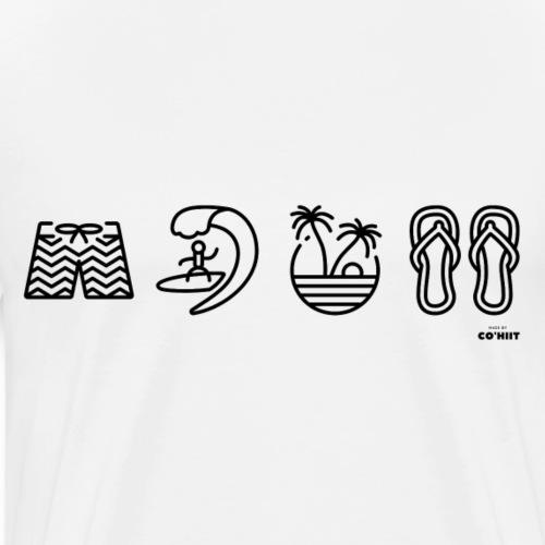 Surfeur (noir) - T-shirt Premium Homme