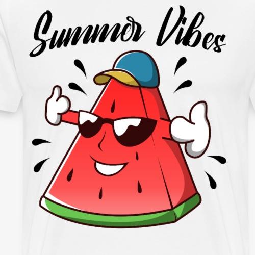 Wassermelonen Vibes - Männer Premium T-Shirt