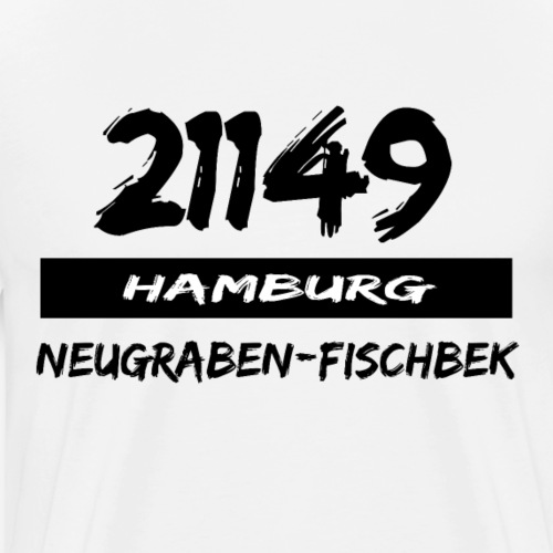 21149 Hamburg Neugraben Fischbek - Männer Premium T-Shirt