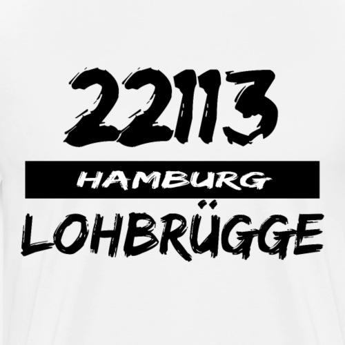 22113 Hamburg Lohbrügge - Männer Premium T-Shirt