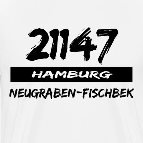21147 Hamburg Neugraben Fischbek - Männer Premium T-Shirt