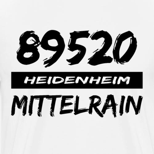89520 Heidenheim Mittelrain - Männer Premium T-Shirt