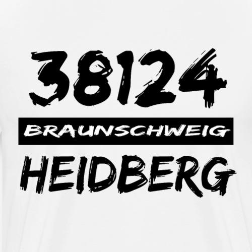 38124 Braunschweig Heidberg - Männer Premium T-Shirt