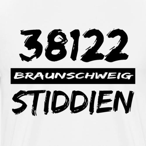 38122 Braunschweig Stiddien - Männer Premium T-Shirt