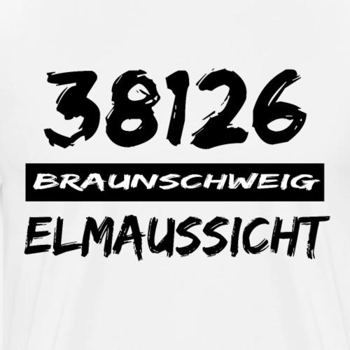 38126 Braunschweig Elmaussicht - Männer Premium T-Shirt