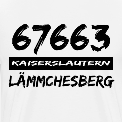 67663 Kaiserslautern Lämmchesberg - Männer Premium T-Shirt