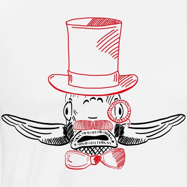Elegant Hipster Fish - Mustache