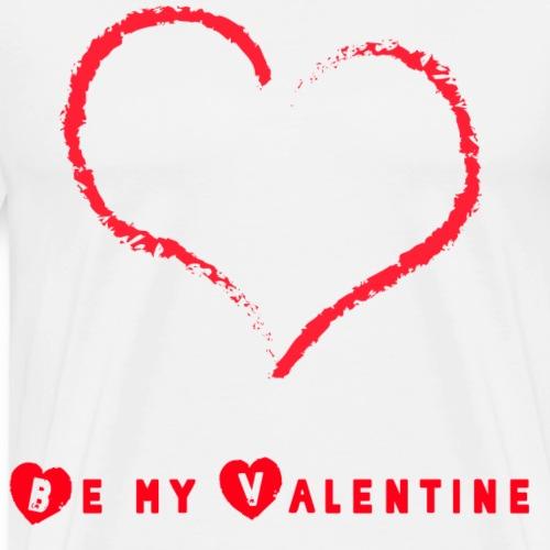 Sei mein Valentin Herz Schrift