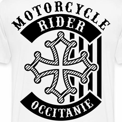 Motorcycle Rider Occitanie 'Flag' - T-shirt Premium Homme