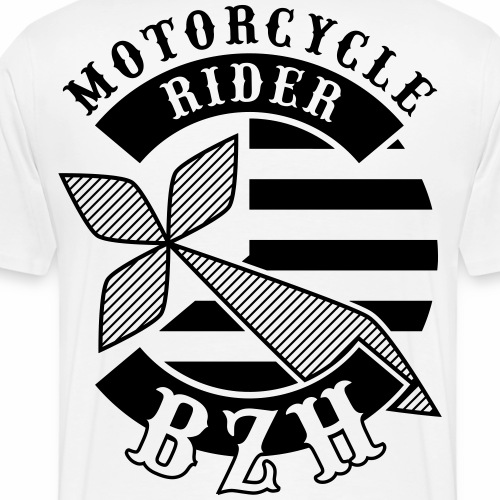Motorcycle Rider Bretagne 'Flag' - T-shirt Premium Homme