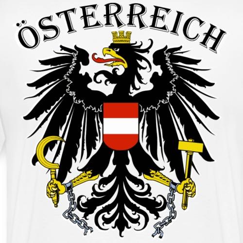 Österreich Österreich Austria Wappen Adler Patriot - Männer Premium T-Shirt