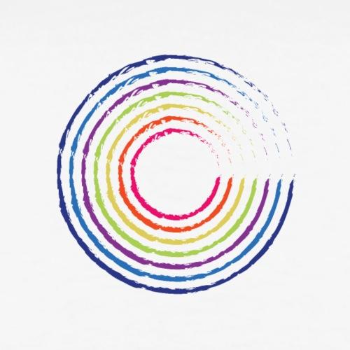 Cirkel regnbåge - Premium-T-shirt herr