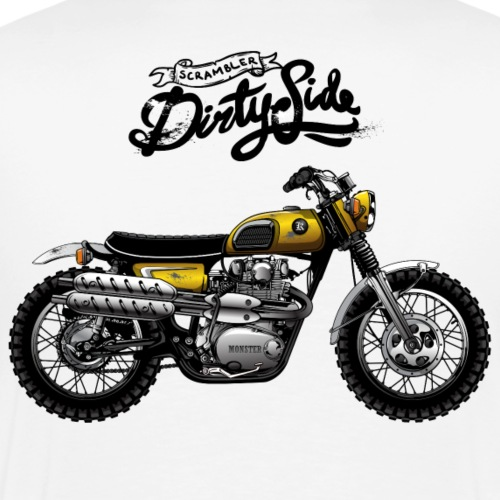 Scrambler Dirty Side - Camiseta premium hombre