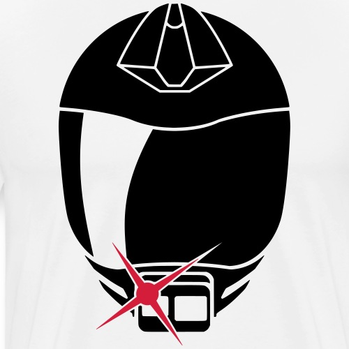 svart logo only - Premium-T-shirt herr