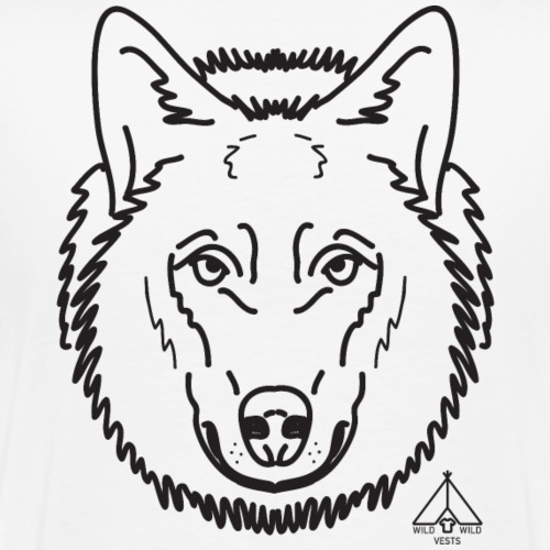 Wolf Face, Wild Wild Vests - Men's Premium T-Shirt