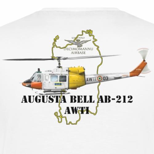 AB 212 AWTI DECI AIRBASE - Maglietta Premium da uomo