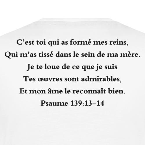 Psaume 139:13-14 - T-shirt Premium Homme