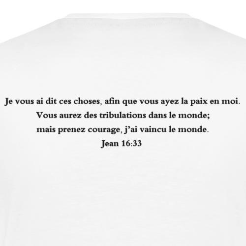 Jean 16:33 - T-shirt Premium Homme