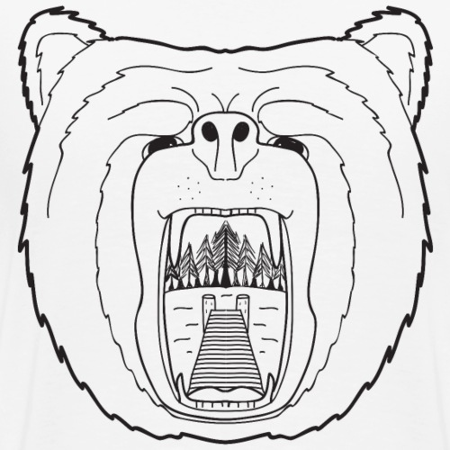 Wild Wild Vests Bear Tee - Men's Premium T-Shirt