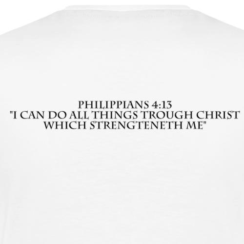 Philippians 4:13 black lettered - Mannen Premium T-shirt