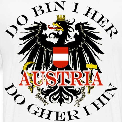 Do bin i her Österreich Austria Wappen - Männer Premium T-Shirt