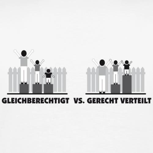Gerechtigkeit versus gerecht verteilt - Männer Premium T-Shirt