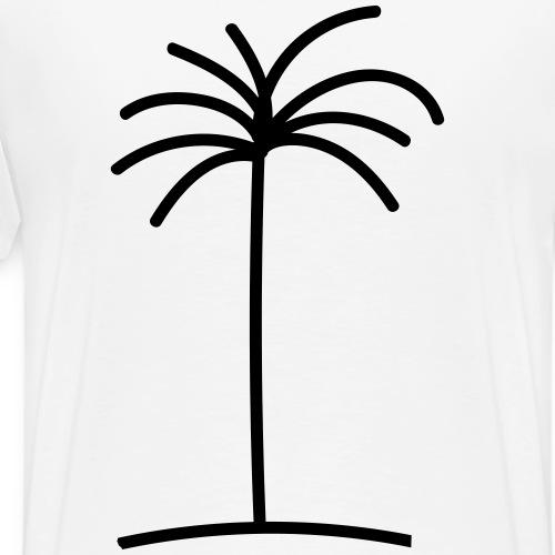 Palme auf dem Rücken - Männer Premium T-Shirt