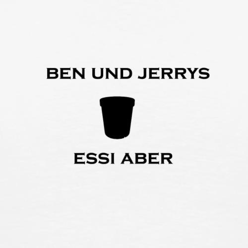 benn und jerrys schwarz png - Männer Premium T-Shirt