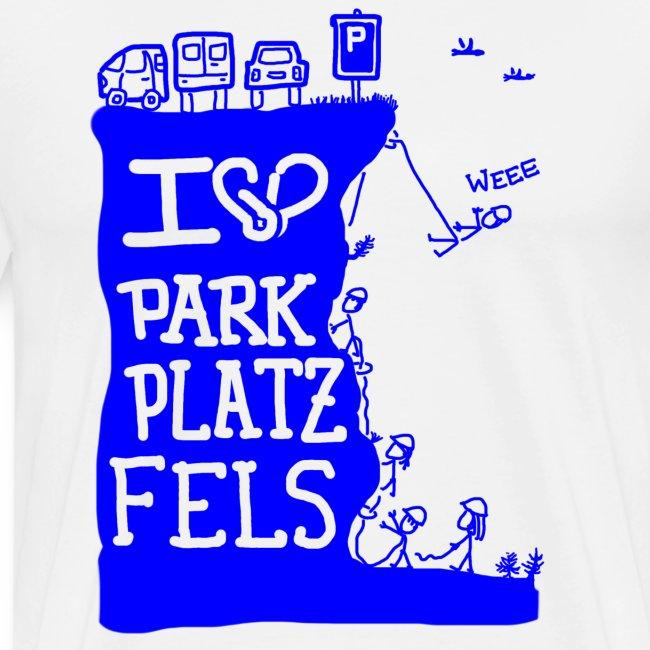 Parkplatzfels Tee Front