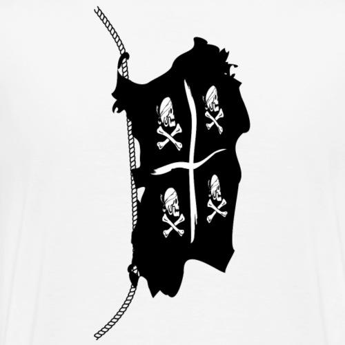 Sardegna, Pirate Flag - Maglietta Premium da uomo
