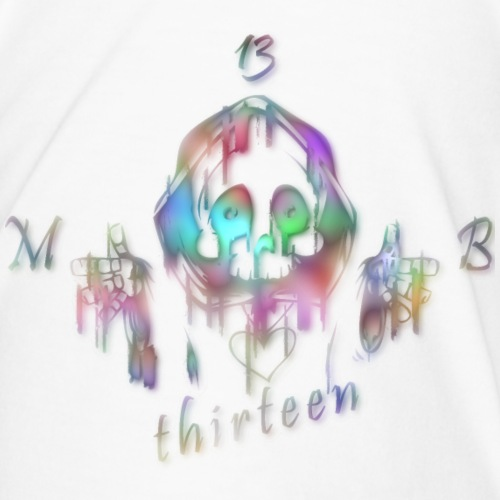 MB13 - skull - rainbow - thirteen - Men's Premium T-Shirt