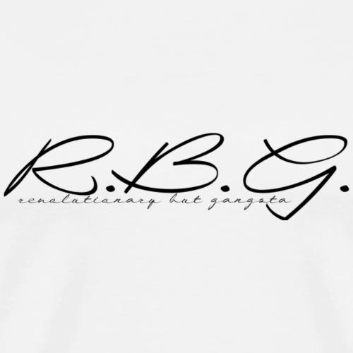 rbg black logo - Männer Premium T-Shirt