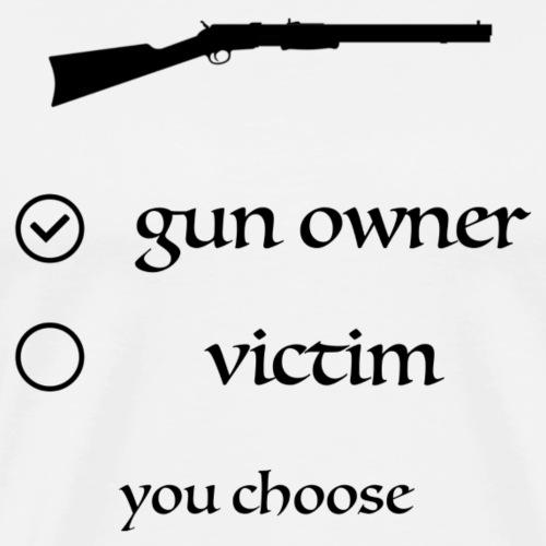gun owner black logo - Männer Premium T-Shirt
