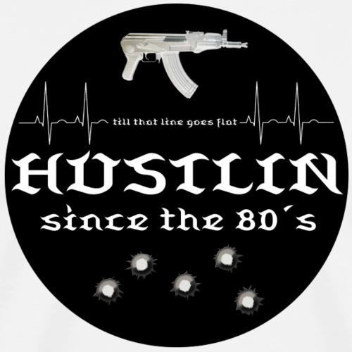 Hustlin since black logo - Männer Premium T-Shirt