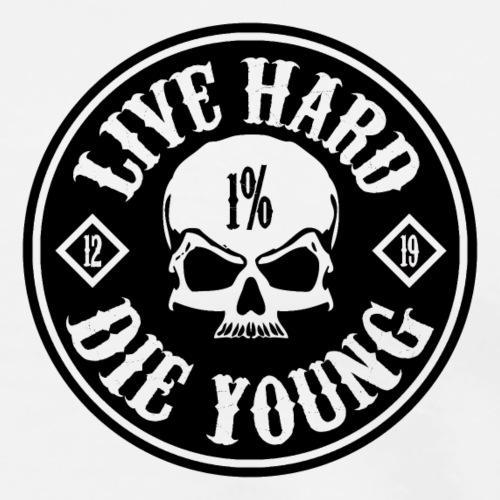 Lucky Sinner Live Hard Shirt 2019 - Männer Premium T-Shirt