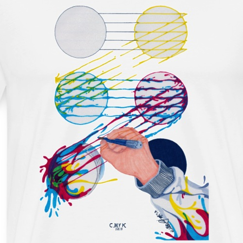 CMYK Mix and flow - Men's Premium T-Shirt