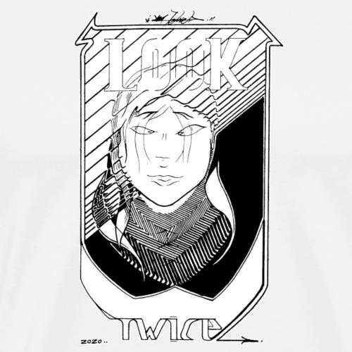 LOOK TWICE - Men's Premium T-Shirt