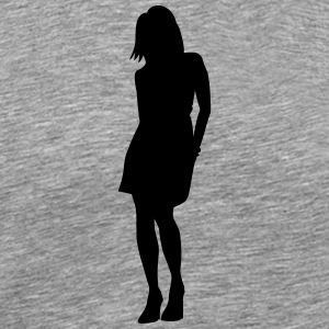 Woman body Silhouette vector design - Men's Premium T-Shirt