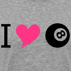 I love billard pink - Men's Premium T-Shirt