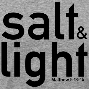 Salt & Light - Matthew 5:13-14 - Männer Premium T-Shirt